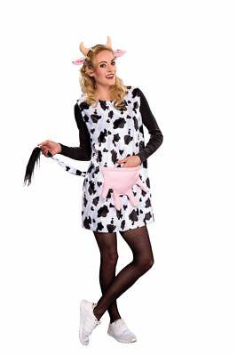 FM - Damen Kostüm Kuh Kleid Haarreif Karneval - Weibliche Kuh Kostüm