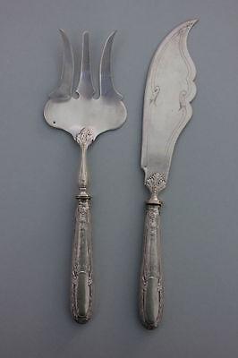 Wunderschönes Silber-Vorlegebesteck für Fisch, um 1900