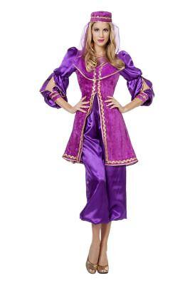 Harem Kostüme (WIL - Orient Damen Kostüm Haremsdame in lila Karneval Fasching )