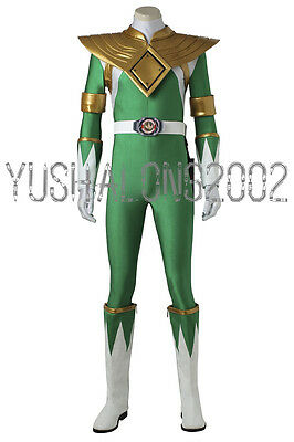 Mighty Morphin Power Rangers ZYURANGER Tommy Gruen Green Cosplay Kostüm - Morphin Power Ranger Kostüm