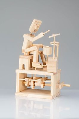 Timberkits Drummer Model Kit Mechanical Wooden Self Assembly Moving Automata