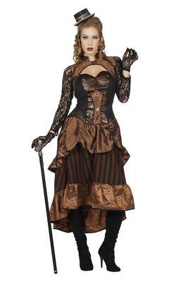 WIL - Damen Kostüm Steampunk Western Karneval