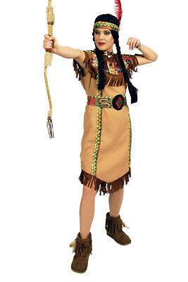 Indianerin-Kostüm Damen lang Indianer-Kostüm Wilder Westen Squaw - Indianerin Kostüm