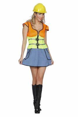 FFF - Damen Kostüm Bauarbeiterin Karneval Fasching