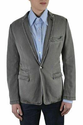 Dolce & Gabbana Herren Grau ein Knopf Blazer Größe Us 38 It 48 - Baumwolle Ein-knopf-blazer