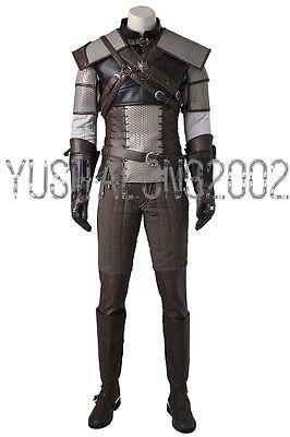 The Witcher 3 Wild Hunt geralt of rivia Spiel Cosplay Kostüm Costume (Geralt Cosplay Kostüm)
