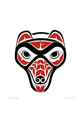 Grizzly Bear Lon French Art Card Haida Northwest Coast Native for sale  Canada