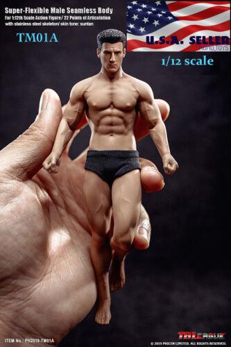 "TBLeague PHICEN 1/12 Male Seamless Figure with Head Full Set TM01A 6"" ❶USA❶"