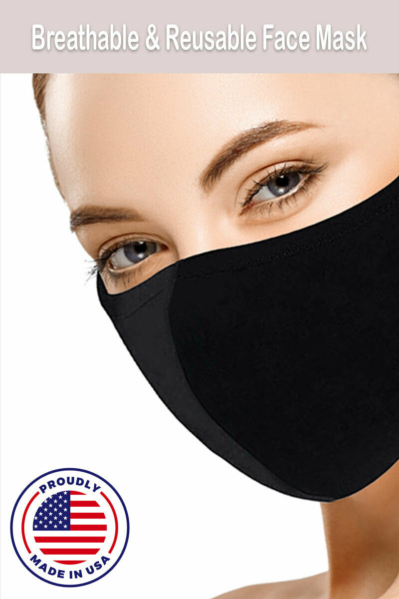 [Made in USA] Washable Cotton Face Mask Business & Industrial