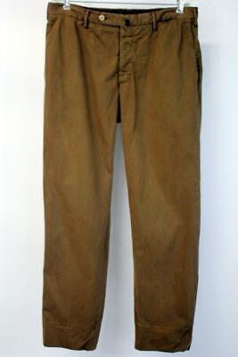 INCOTEX Khaki Brown CLASSIC FIT HIGH COMFORT Chino Pants Modern Stretch Mens 32