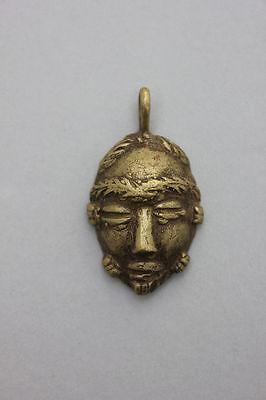 Alter Bronze-Anhänger Kopf eines Afrikaners