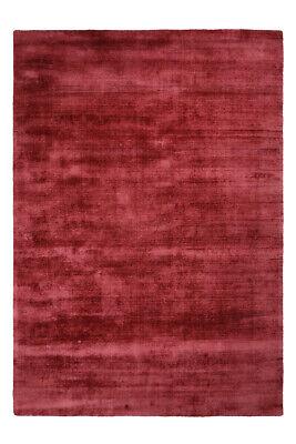 Flachflor Teppiche 100% Viskose Handgewebt Teppich Kurzflorteppich Violett