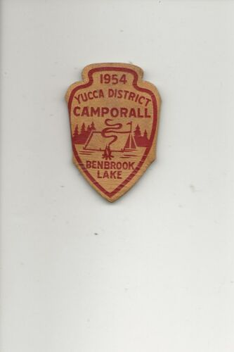 LEATHER  NC  SLIDE / 1954 YUCCA DISTRICT / BENBROOK LAKE - Boy Scout BSA /7-18