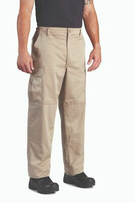 Propper BDU Uniform Cargo Pants Khaki Ripstop Zipper Fly Draw -