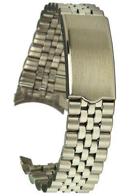 Edelstahluhrband Jubilee-Style Rundanschluss 20 mm Faltschliesse Uhrarmband