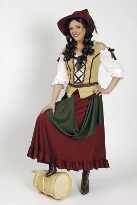 Mädchen Mittelalter Kostüm (Tavernen Mädchen Mittelalter Kostüm Larp Damen Kleid Karneval Fasching NEU)
