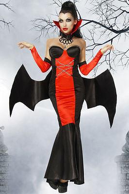 Vampirkostüm Vampir Kostüm Halloween Vampire Gothic Damen Dracula  Hexe 2XL/3XL (Halloween-kostüme Dracula)