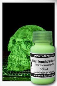 Nachleuchtfarbe UVG75 60ml Nachtleuchtfarbe phosphoreszierende Farbe glow