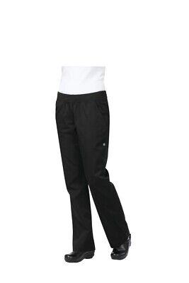 Chef Works Pbn01w-blk Womens Black Lightweight Slim Pants - Size Small - Black