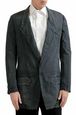 Dolce & Gabbana Herren Distressed Hell ein Knopf Blazer Sport Mantel Us 38 It 48 - Baumwolle Ein-knopf-blazer