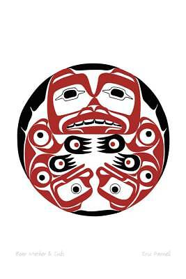 Bear Mother and Cubs Eric Parnell Art Card Haida Northwest Coast Native No.978 for sale  Canada