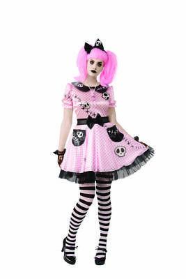 Rubies Pink Skelly Skeleton Doll Emo Gothic Punk - Rubies Halloween Gothic Kostüme