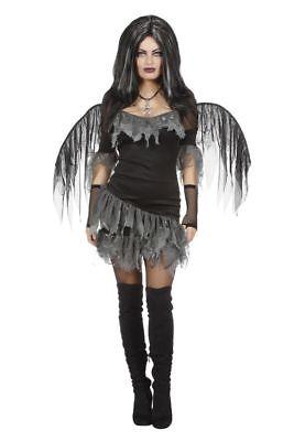 WIL - Damen Kostüm dunkler Engel Dämon Halloween -