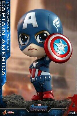 Hot Toys Mini Captain America Figure Figurine Cosbaby COSB576 Model Bobble Head