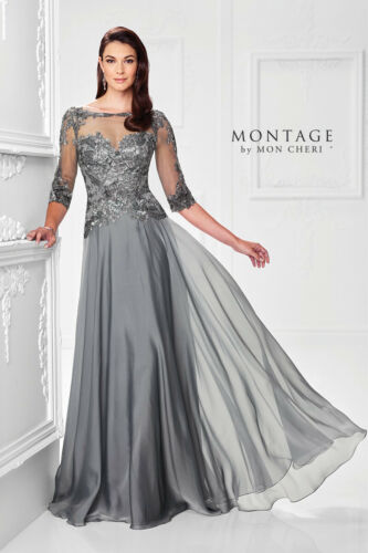 Montage 117901 Mother of the Bride Dress   Sample, Size: 14 Pewter