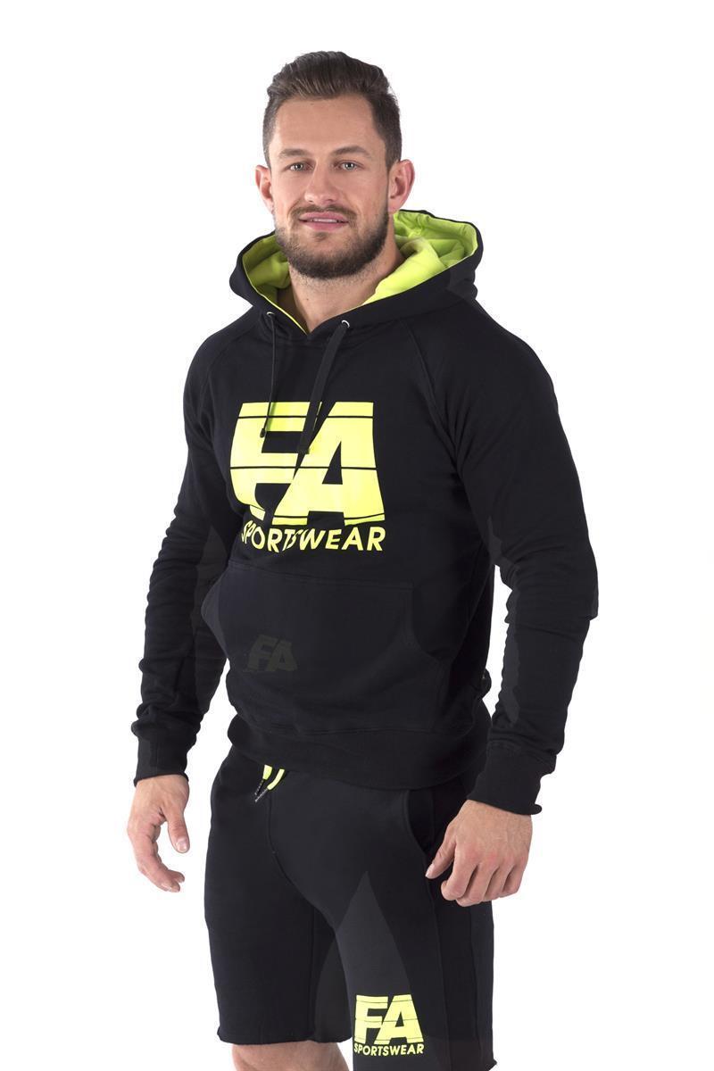 FA Sportswear Hoodie 01 Basic Black - TRAININGSPULLI - PULLOVER -