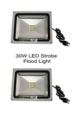 2pc 30W Strobe Light LED Flood light, Sound activated, club, DJ, disco, - Christmas Strobe Lights
