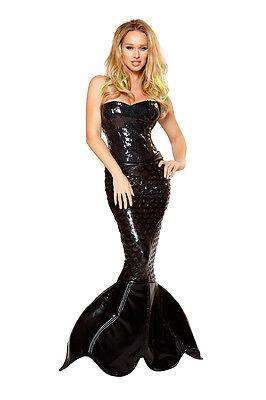 Meerjungfrau Kostüm Corsage Rock schwarz Pailletten Gr.S 32-34 - Kleine Meerjungfrau Kostüme