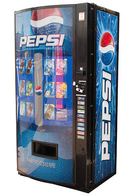 Vendo Vmax V570p Multi Price Soda Beverage Vending Machine Pepsi Graphic
