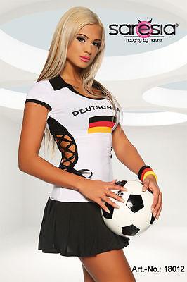 Fußball Trikot Kleid Gogo Kostüm Damen Deutschland Saresia Sexy Germany Mini - Sexy Fußball Kostüm
