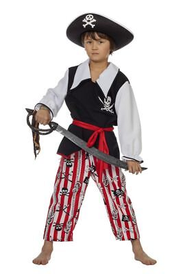 WIL - Kinder Kostüm Schatzinsel Pirat Seeräuber Karneval (Kind Räuber Kostüm)