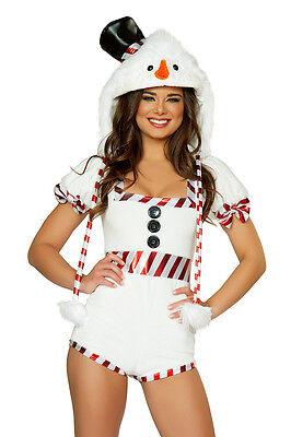 Schneemann Kostüm Overall Gr. L 38-40 Sowman Fasching Karneval Fasnacht - Weiße Schnee Kostüm