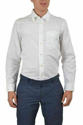 Armani Jeans Men's White Long Sleeve Casual Shirt US XS IT 46