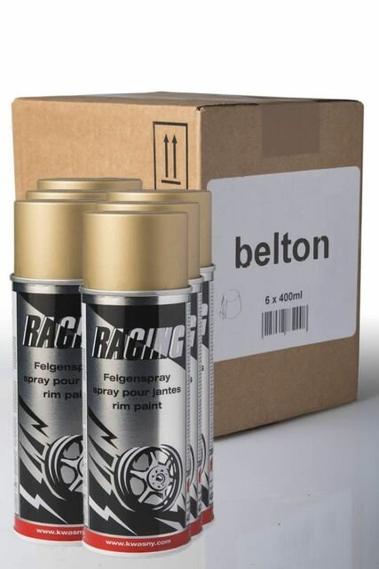 6 x Belton Racing gold 0,4l Felgenspray Felgenlack Goldspray Sprühlack Gold