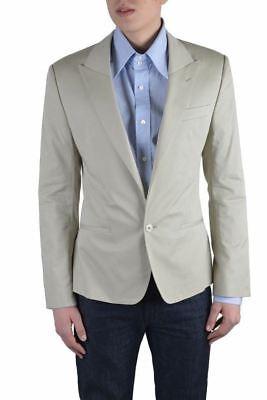 Dolce & Gabbana Herren Beige ein Knopf Blazer Größe Us 38 It 48 - Baumwolle Ein-knopf-blazer