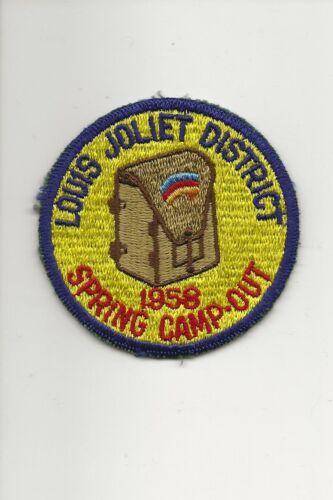 RAINBOW COUNCIL / 1958 LOUIS JOLIET District Camp Out - Boy Scout BSA A132/7-18