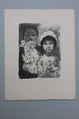 Edouard Goerg (1893-1969) - Brautpaar mit Blumen Lithographie