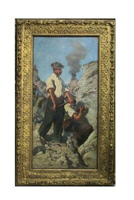 Andrea Tavernier (1858-1932) The Hollow of Quartz, Oil On Board / Tavernier