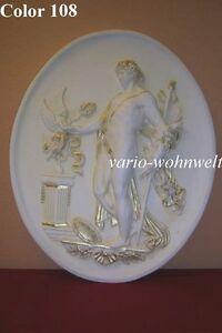Relief Wandrelief Bild Bilder Wandbild Mann Skulptur 2652 / Material : Stuckgips