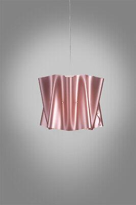 Lámpara de Araña Colgante En Polilux Diám40 Folio 1 Luz Rosa Metálico