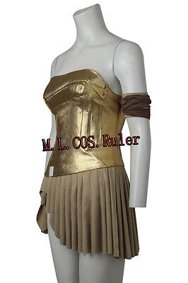 Hot Wonder Woman Cosplay Diana Prince Costume Top and Dress Party Hallowmas Suit