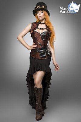 Steampunk Lady Kostüm Gothic Fasching Karneval Damen Verkleidung Halloween NEU