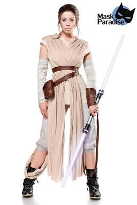 Desert Rey Kostümset Damen Kostüm Star Wars Komplett Set Karneval Fasching Gr XL ()