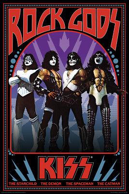 KISS - ROCK GODS POSTER - 24x36 - MUSIC 241363 Rock Music Poster