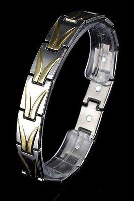 Unisex JayBaxter Magnetarmband Bicolor 12 Magnete 316L Edelstahl Armband Ketten