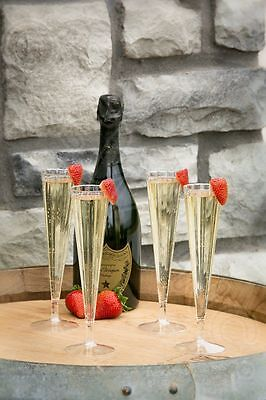 New 120 Plastic Champagne Flutes 5 oz disposable clear party glasses](Clear Plastic Champagne Glasses)